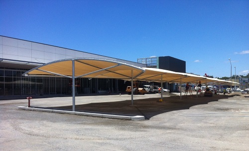 Custom structure - shade fabric top 90m x 11m
