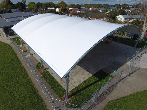 Barrel Roll Shade Structure