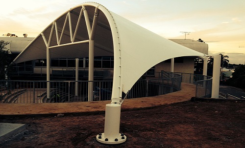 Custom PVC Amphitheatre Structures. Golden Sands School, Papamoa