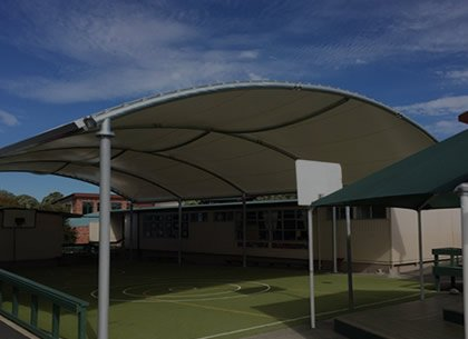 Rolled Hoop Shade Structures