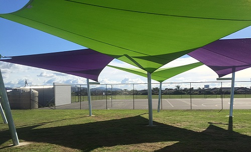 Custom 7m x 7m Shade Sails. Golden Sands School Papamoa